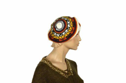 Alpaka Mütze Untertasse, weiß