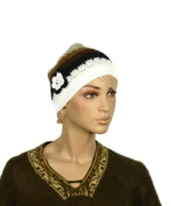 Alpaka Mütze Florcita Weiß Model 1