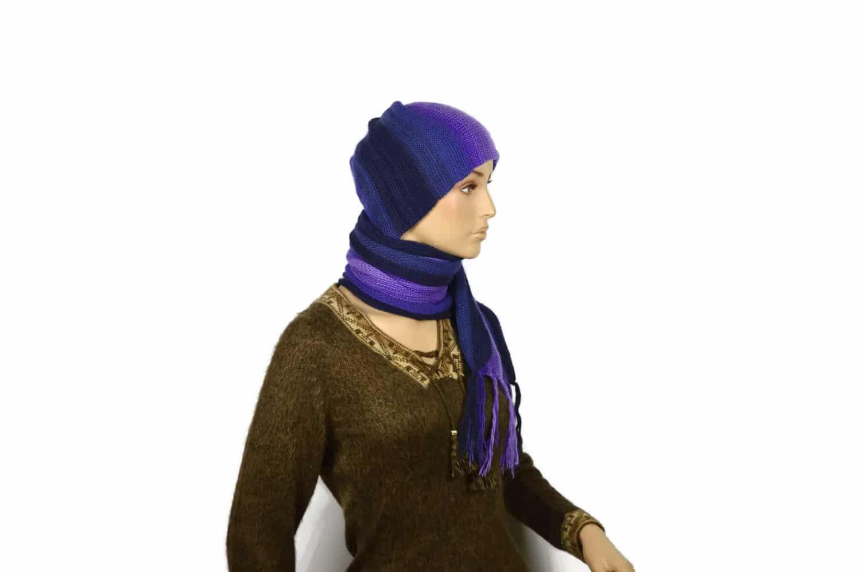 Alpaka Schal Violett