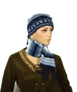 Alpaka Schalmütze Blau