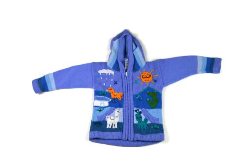Kinderstrickjacke Blaue Eiswelt Variante 1 (104