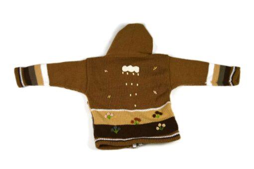 Kinderstrickjacke Brauner Bär Variante 1 (Gr 86)