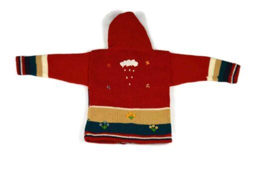 Kinderstrickjacke Roter Vulkan Variante 1 (Gr 86)
