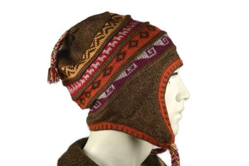 Peruanischer Chullo Mütze braun