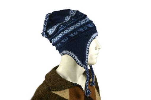 Peruanischer Chullo Mütze dunkelblau