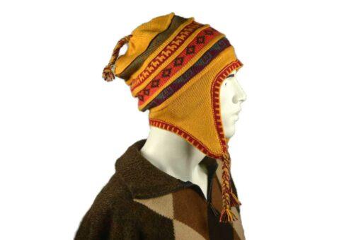 Peruanischer Chullo Mütze gelb