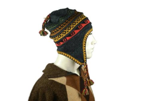 Peruanischer Chullo Mütze grau