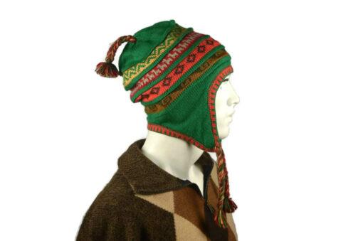 Peruanischer Chullo Mütze grün