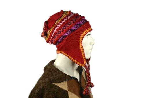 Peruanischer Chullo Mütze rot