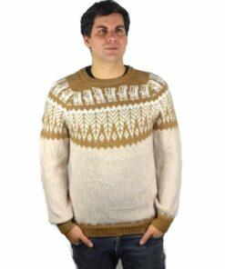 Alpaka Pullover Anden beige-braun
