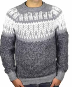 Alpaka Pullover Anden grau-hellgrau