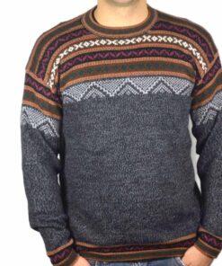 Alpaka Pullover Atahualpa dunkelgrau