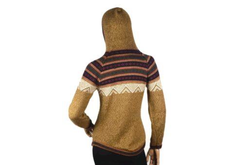 Alpaka Pullover Atahualpa mit Kapuze hellbraun