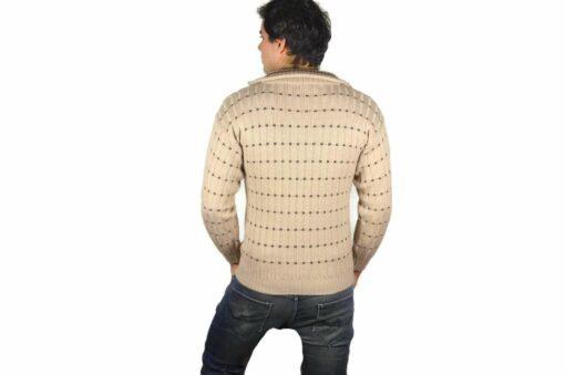 Peruanischer Wollpullover beige
