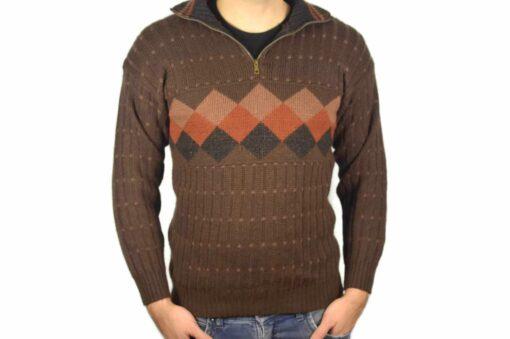 Peruanischer Wollpullover braun