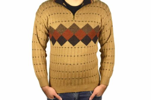 Peruanischer Wollpullover hellbraun