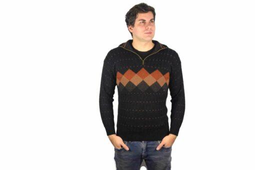 Peruanischer Wollpullover schwarz