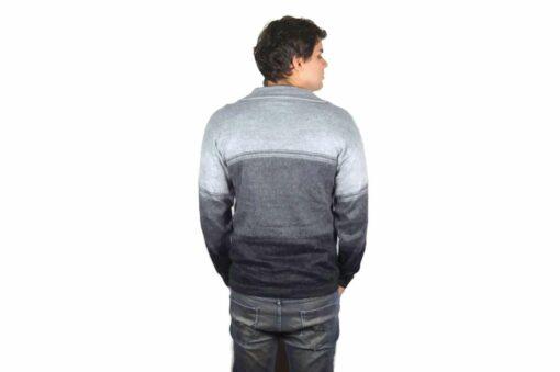 Alpaka Pullover Amaru hellgrau-grau-schwarz