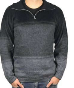 Alpaka Pullover Amaru schwarz-dunkelgrau-grau