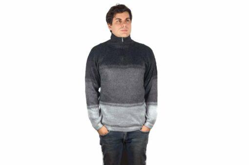 Alpaka Pullover Amaru schwarz-grau-hellgrau