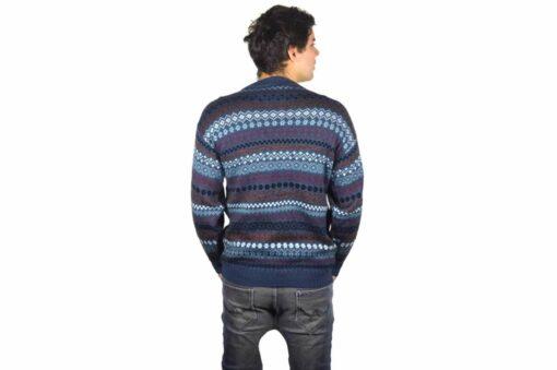 Alpaka Pullover Rayas blau