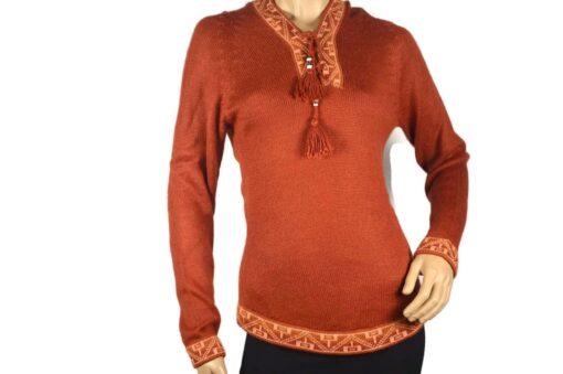 Alpaka Pullover Shakira orange