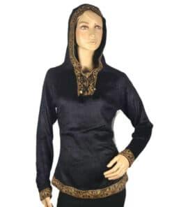 Alpaka Pullover Damen Shakira schwarz-braun