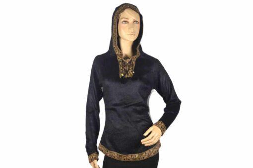 Alpaka Pullover Shakira schwarz-braun