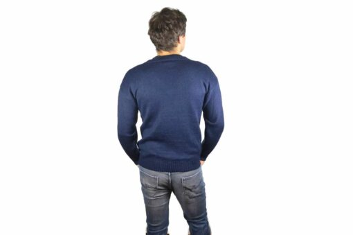 Alpaka Pullover V-Schnitt marineblau