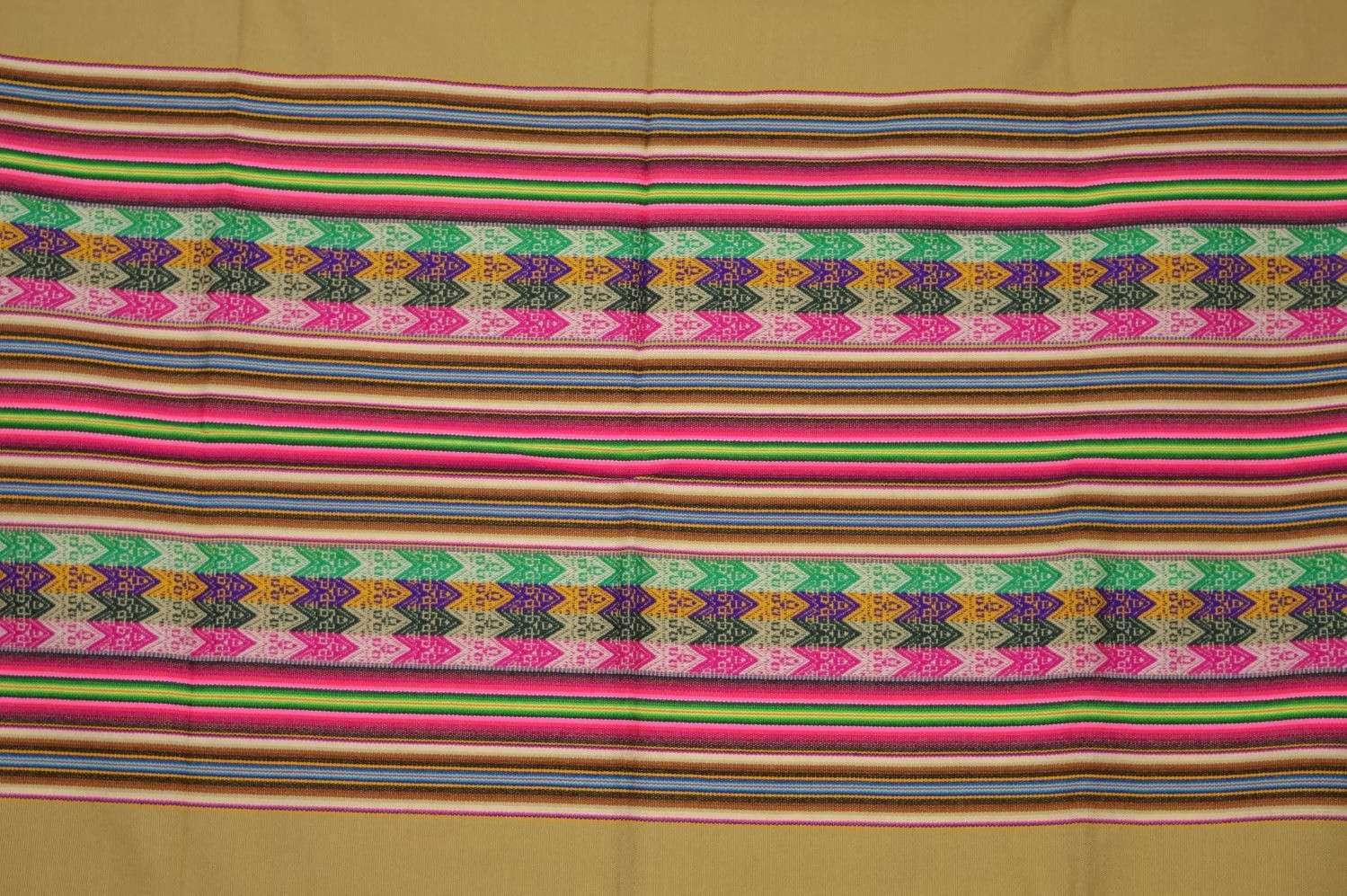 Manta Decke Aguayo ocker