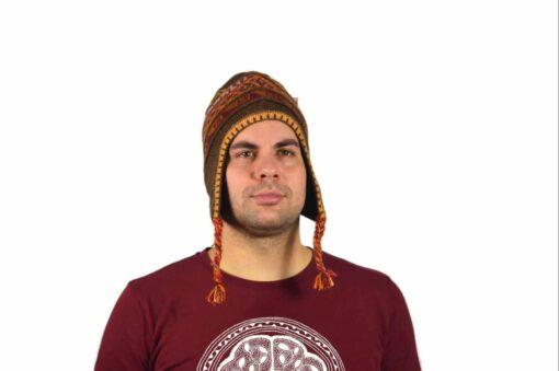 Chullo Mütze Inka braun - Variante 1