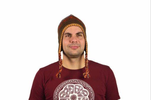 Chullo Mütze Inka braun - Variante 2