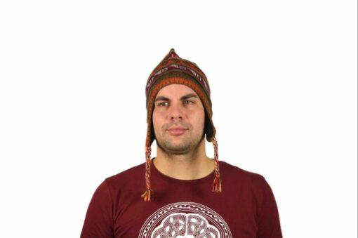 Chullo Mütze Inka braun - Variante 3