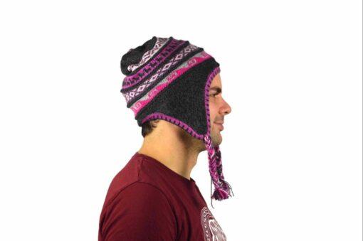 Chullo Mütze Inka dunkelgrau - Variante 1