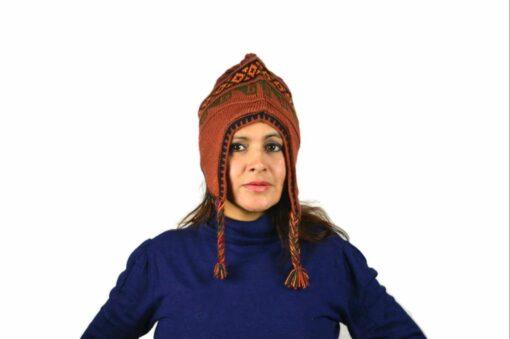 Chullo Mütze Inka orange - Variante 3
