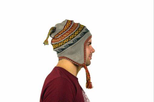 Chullo Mütze Inka grau - Variante 2