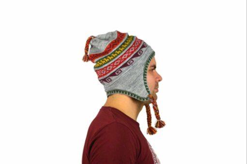 Chullo Mütze Inka grau - Variante 3
