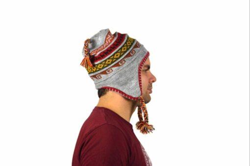 Chullo Mütze Inka grau - Variante 1