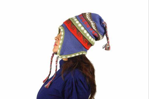 Chullo Mütze Inka cyan - Variante 1