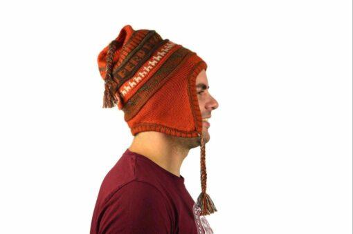 Chullo Mütze Inka orange - Variante 2