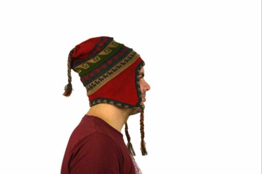 Chullo Mütze Inka rot - Variante 4