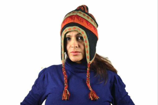 Chullo Mütze Inka schwarz - Variante 4