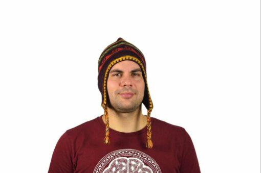 Chullo Mütze Inka dunkelviolett - Variante 1