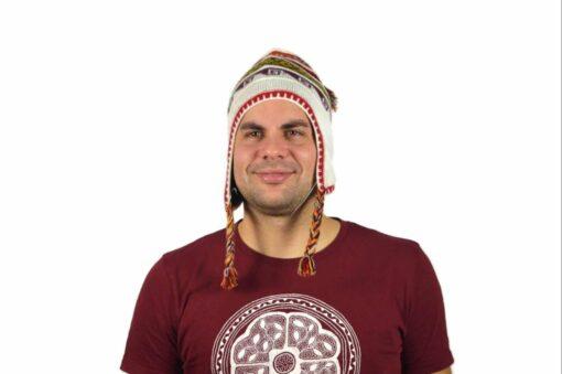 Chullo Mütze Inka weiß - Variante 1