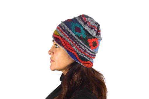 Alpaka Mütze Chakana grau