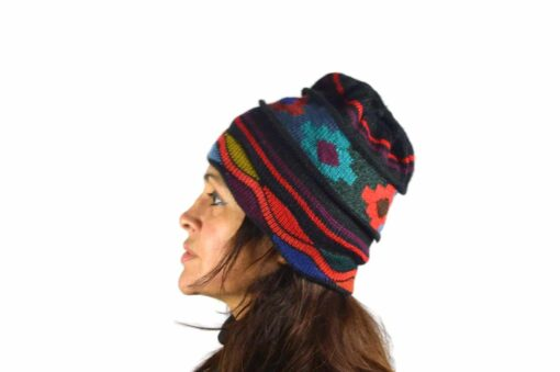 Alpaka Mütze Chakana schwarz