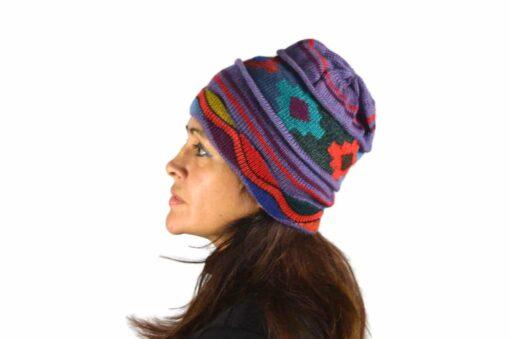 Alpaka Mütze Chakana violett