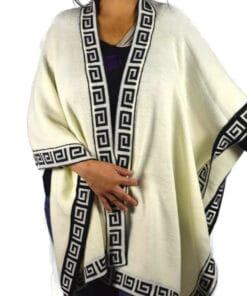 Alpaka Umhang weiß