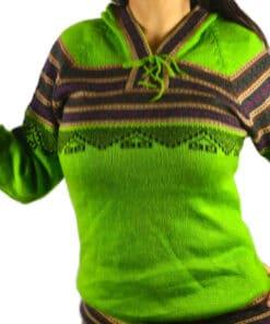 Alpaka Pullover Atahualpa hellgrün