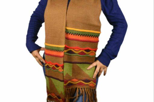 Alpaka Schal Inti Raymi braun